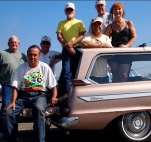 Studebaker Drivers Club members enjoying a day at the Pomona Swap Meet