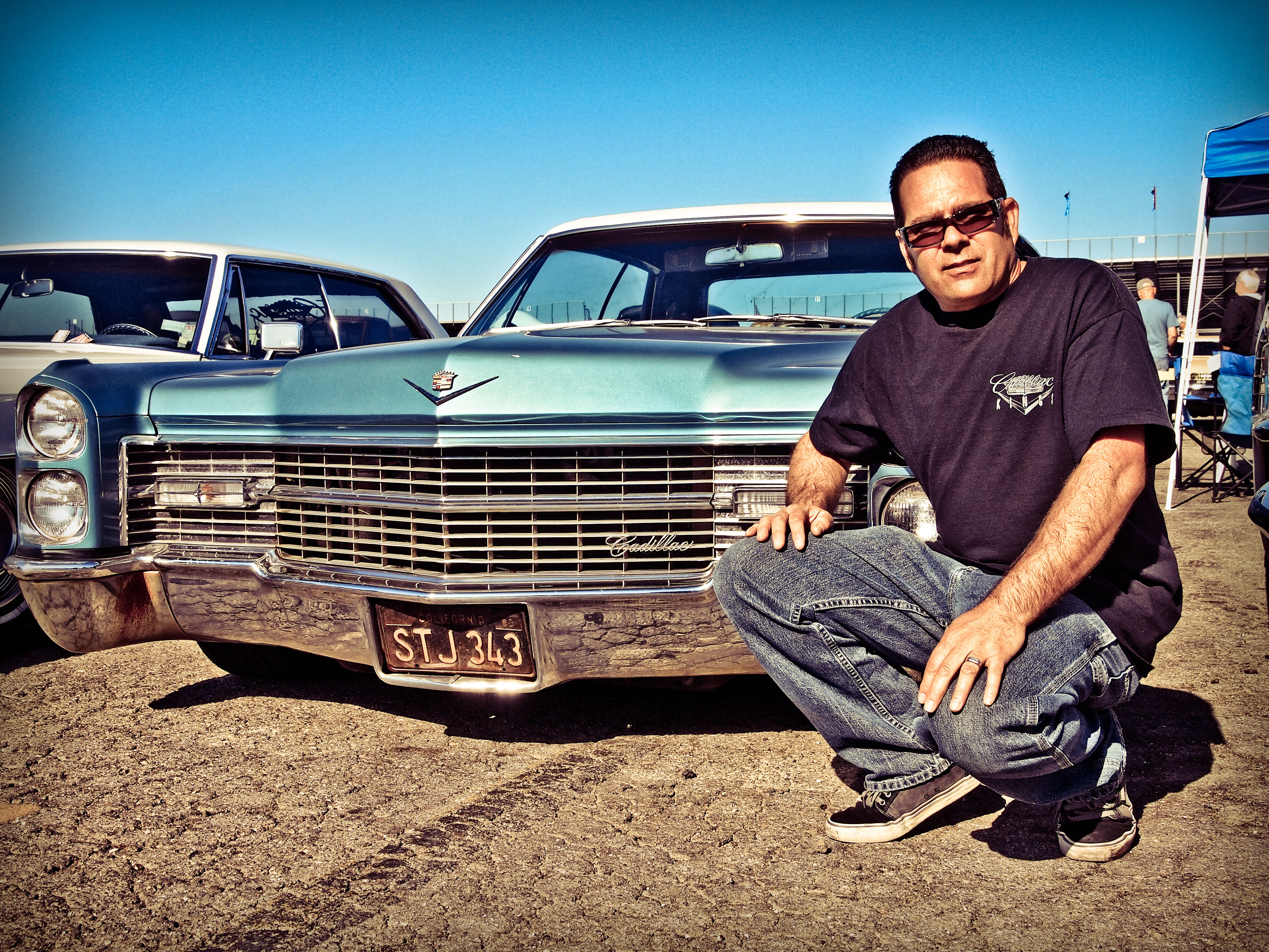 Brian Bohlier With His 1966 Cadillac Pomona Swap Meet