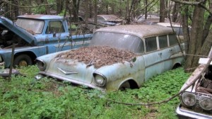 Classic Chevy's stored on the Lambrecht property.