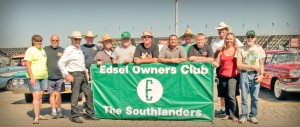 """The Southlanders"" Edsel Onwers Club at the June 2014 Pomona Swap Meet."
