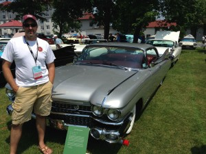 Dr. Joe Roglieri, vice president of the Capital District Region of the Cadillac & LaSalle Club with his 1959 Cadillac Eldorado.