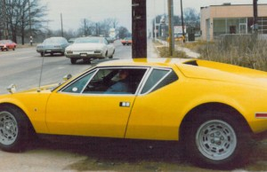 The King, driving his 1971 Pantera.
