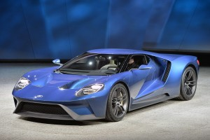 Ford unveils their GT concept car at the 2015 Detroit Auto Show.