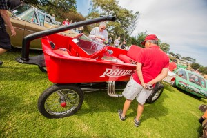 "This 1932 Ford won the Concours d'LeMons' ""WTF?"" Award."