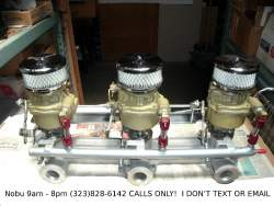 Image of Tri-Power Setup Chevy + GMC 6-cyl 216 + 235 Eng.