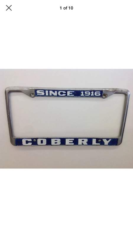Image of Wanted: Coberly Ford License Plate Frame and info